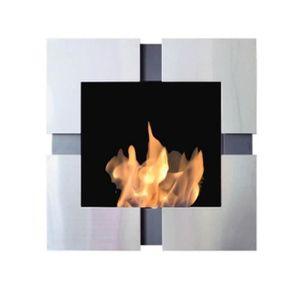 CHEMINÉE Teseo, cheminée murale bio-éthanol Purline , pose