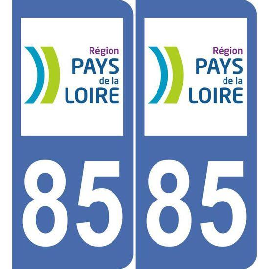 stickers autocollants plaques immatriculation auto Département 85 vendée