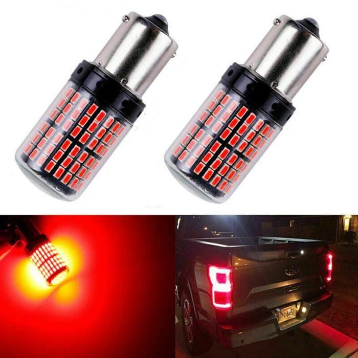 Ampoule BA15S LED P21W Veilleuses 144 SMD Rouge pour Feux Arriere veilleuses Voiture