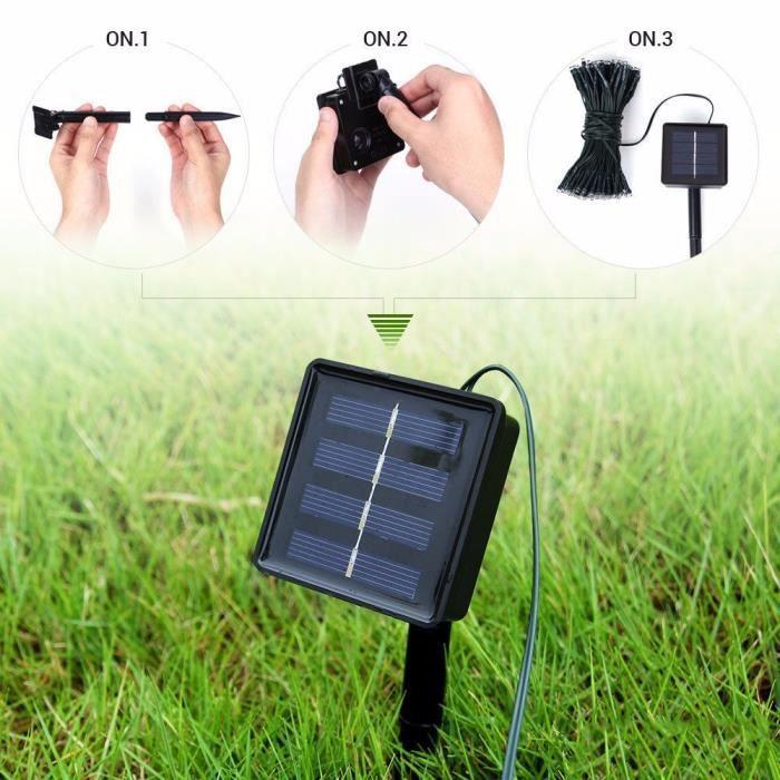 BANDE LED - RUBAN LED 100 LED solaire - batterie lumière extérieure fée chaîne jardin lumières de Noël_u890 Jeffrey 1071 zl