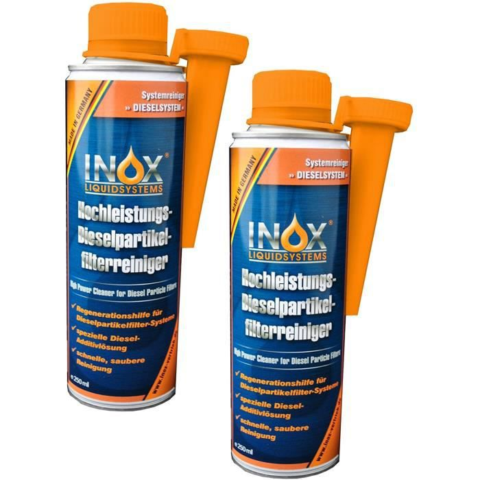 inox filtre à particules diesel additif nettoyant, 2 x 250ml - additif pour carburant à haute performance pour tous les moteu 65