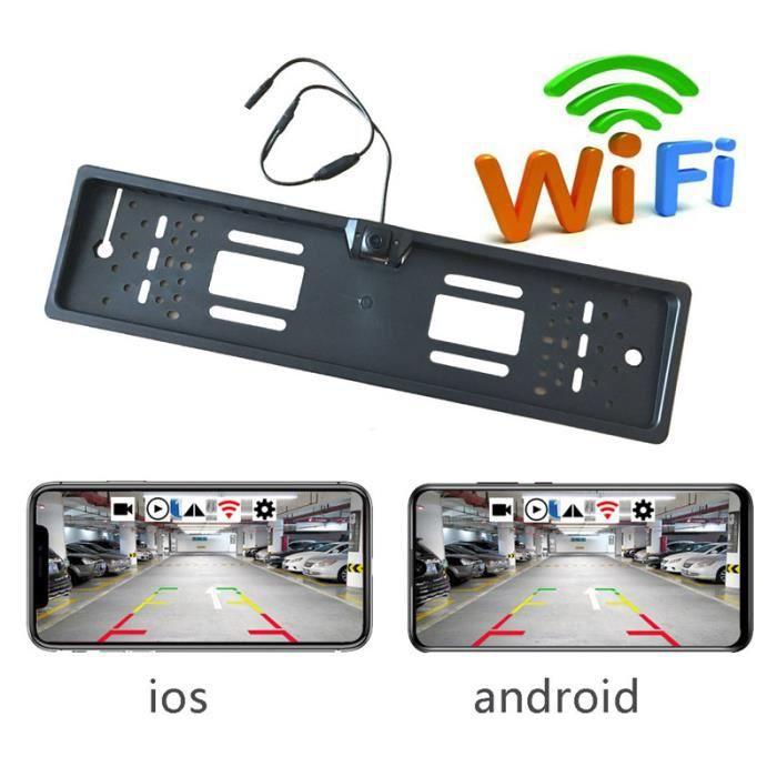 Caméra de Recul line caméra de recul wifi cadre de plaque d'immatriculation vue arrière caméra de voiture