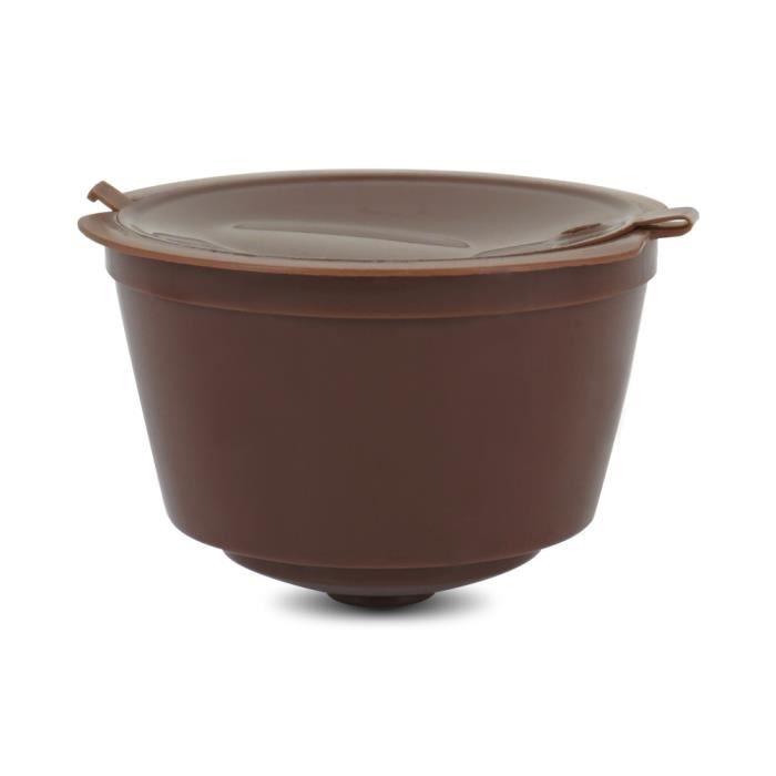 Petit déjeuner - Café,Nestlé capsules de filtre à café réutilisables, Dolce Gusto, compatibles avec les outils - Type 1PC brown