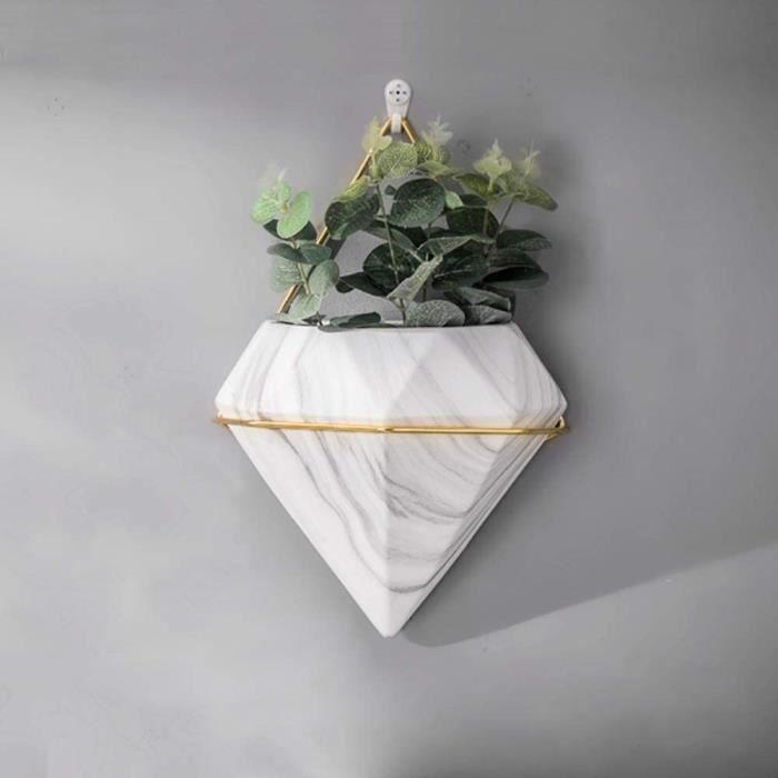 1PC Jardinière Suspendue Géométrique pour Décoration Forme de Diamant Planteur Murales Jardinières Murales Plante Succulent P 519