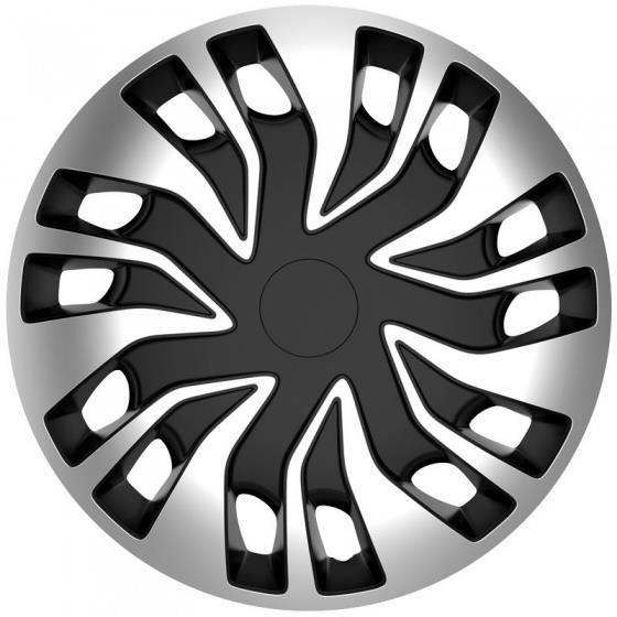 AutoStyle enjoliveurs Fast Van (sphère) 15 pouces ABS argent / blanc lot de 4
