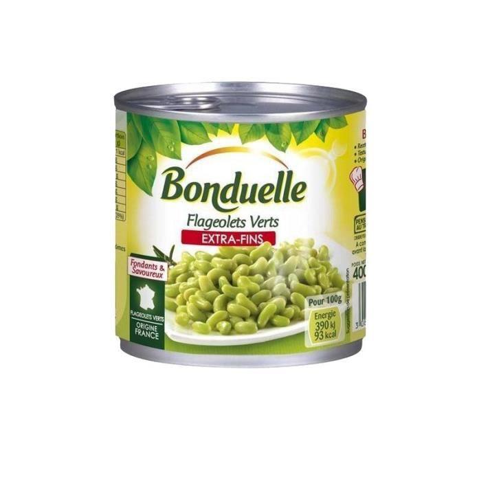 Bonduelle Flageolets Verts Extra Fins 265g (lot de 10)
