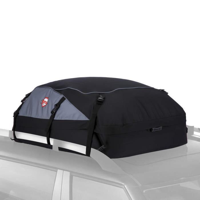 Sac de Toit Voiture pour Voyage Coffre De Toit Voiture Valise de Toit SUV Noir Souple 580L 20.7 Pieds Cubes 130 * 100 * 45 CM