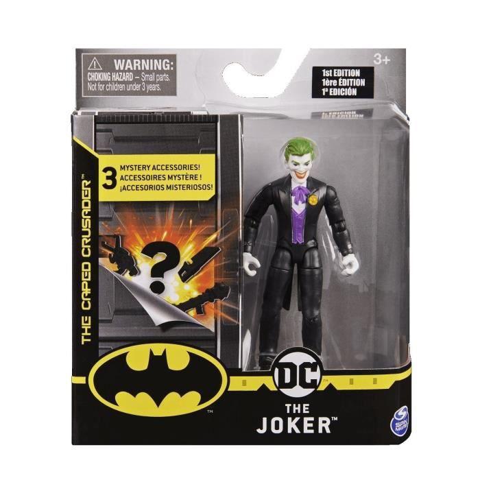 Coffret Figurine Le Joker 10 cm Avec 3 Accessoires Mystere - DC - Super Heros - Jouet Garcon