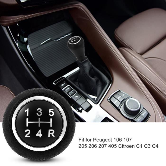 Tête de pommeau de levier de vitesse à 5 vitesses pour Peugeot 106-107-205-206-207-405 citroën C1 C3 C4 HB032 -YEA