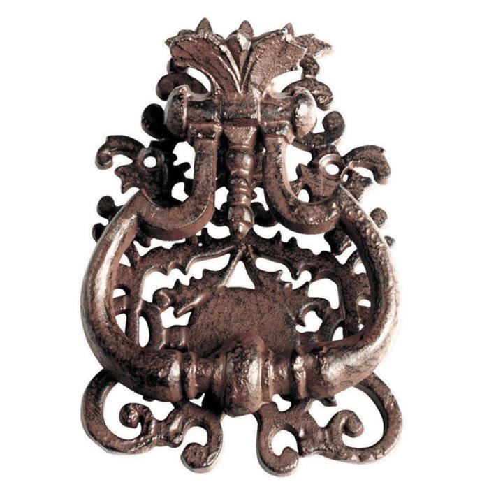 Heurtoir de porte en Fonte Baroque Rouille