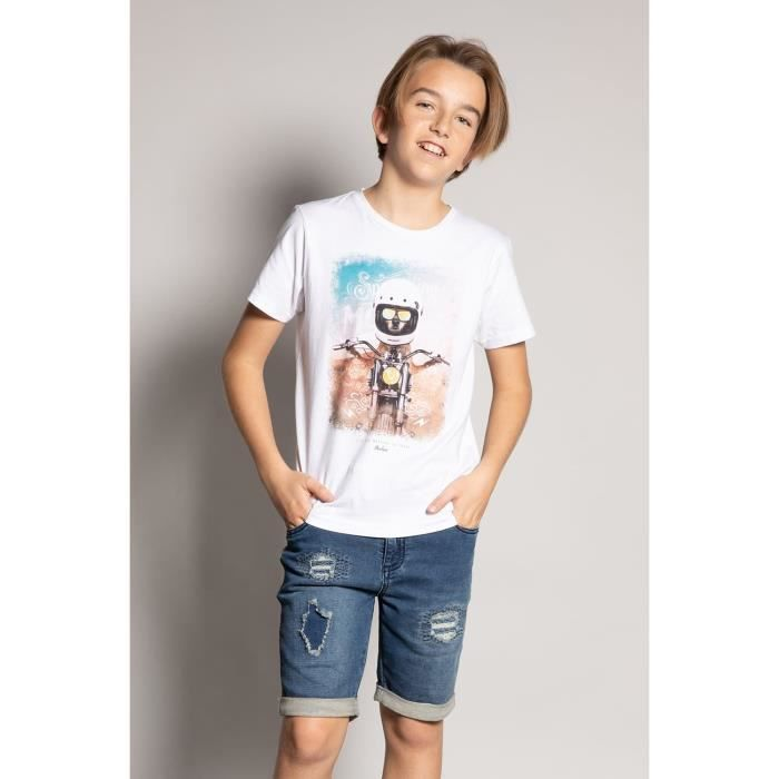 DEELUXE T-shirt photo animal POKE White