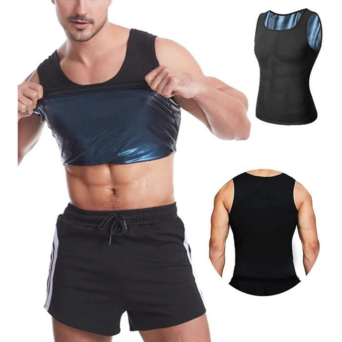 Débardeur de Sudation pour Homme Gilet,Minceur, Fitness,Effet Sauna Sport, Shaper, Perte de Poids Body Shaper Sport Musculation