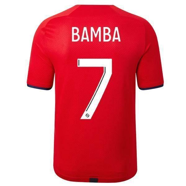 Nouveau Maillot de Foot BAMBA 7 Lilles LOSCS 2021 2022 Pas Cher pour Homme