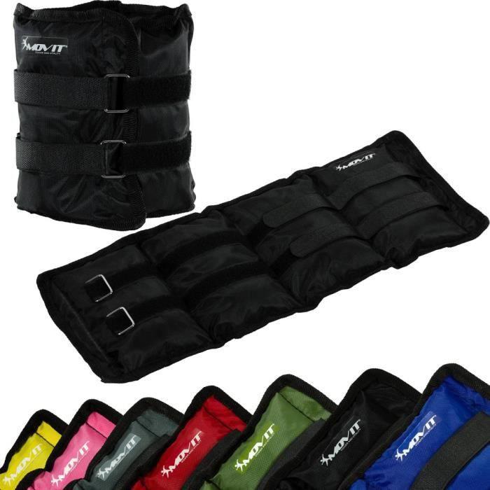 MOVIT Poids de cheville et de poignet noir 6 kg (2 x 3 kg) - 1 paire