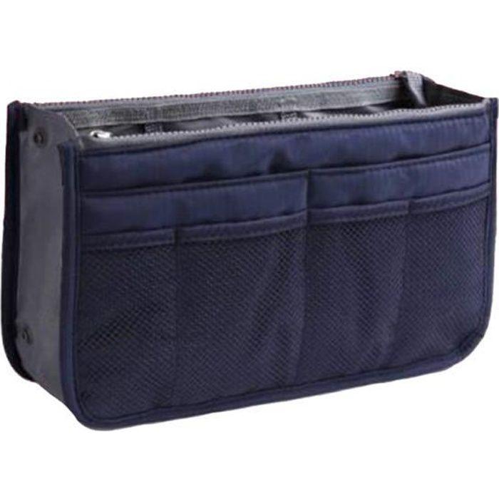 Organiseur de sac à main, Pochette Sac de Rangement intérieur pour Sac à Main ( indigo )