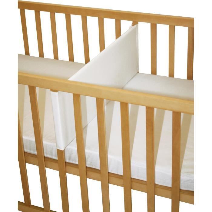 ROBA Réducteur de lit bébé, 60x120 cm, nid de bébé, canvas blanc
