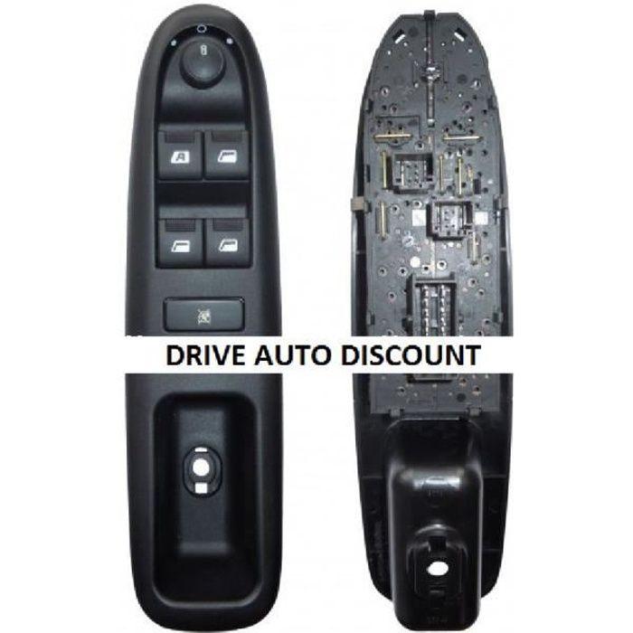 Contacteur bouton platine complète lève-vitres électrique conducteur Peugeot 406