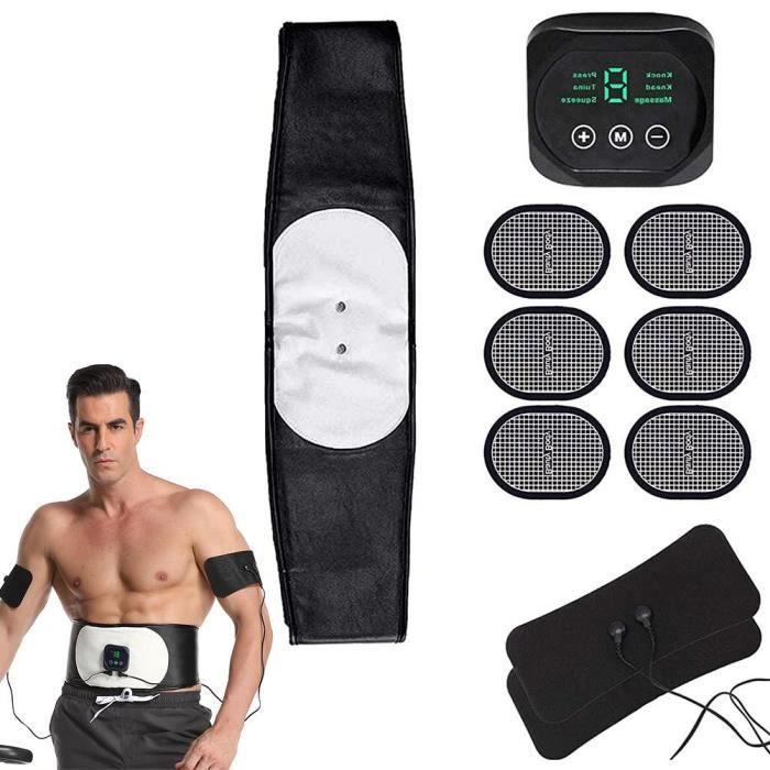 Ceinture Abdominale Noire Electrostimulation et Musculation EMS Appareil Electrostimulateur Musculaire Abdominaux