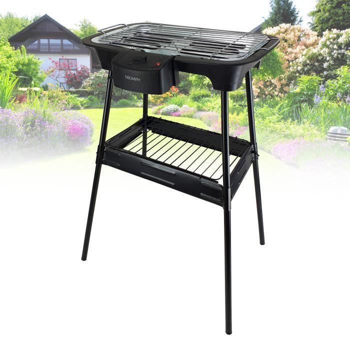 Barbecue électrique sur pieds - Triomph ETF1526 - 2000W - intérieur et extérieur