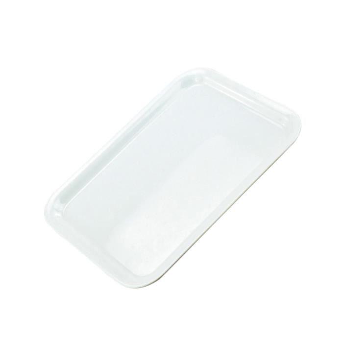 Plateau de service en blanc rectangulaire de pour plats de fête Assiettes (Petite taille) PLATEAU - PLAT DE SERVICE