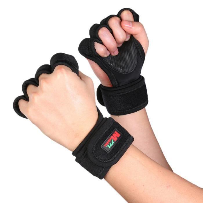 1 paire de gants d'haltérophilie d'entraînement de remise en forme femmes hommes BARRE - HALTERE - POIDS