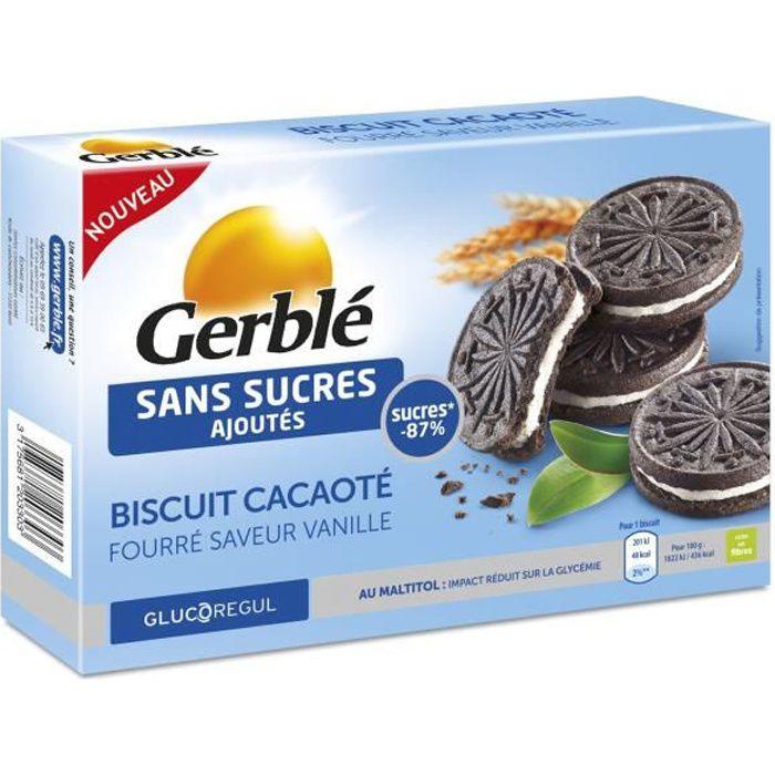 GERBLE Biscuit Cacaoté Vanille Sans Sucres Ajoutés - 176 g