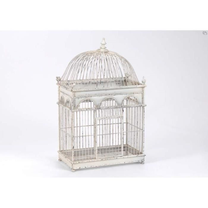 cage oiseaux en fer vieilli d co amadeus dim achat. Black Bedroom Furniture Sets. Home Design Ideas