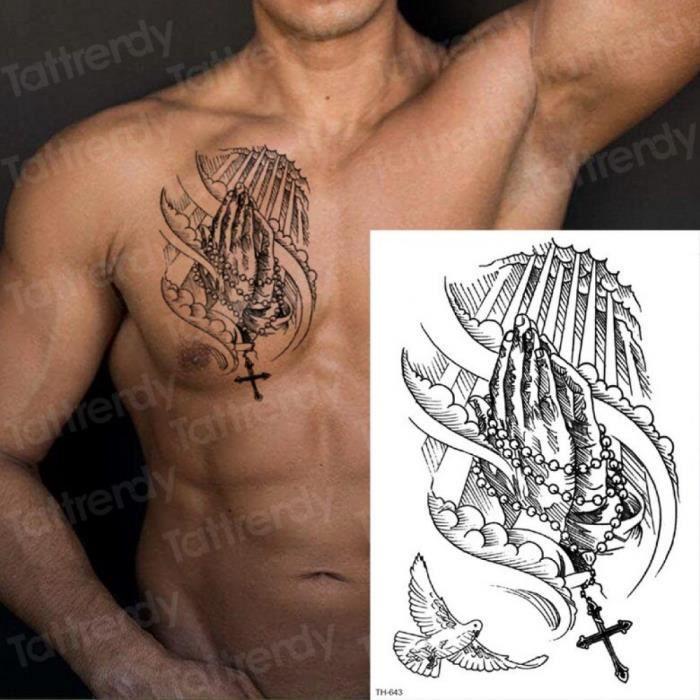 Tatouage Temporaire Homme Epaule Achat Vente Pas Cher