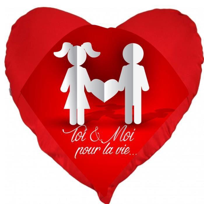 Coussin St Valentin Coeur Toi Et Moi Pour La Vie Un Cadeau Ideal Pour La Saint Valentin Achat Vente Coussin Soldes Sur Cdiscount Des Le 20 Janvier Cdiscount