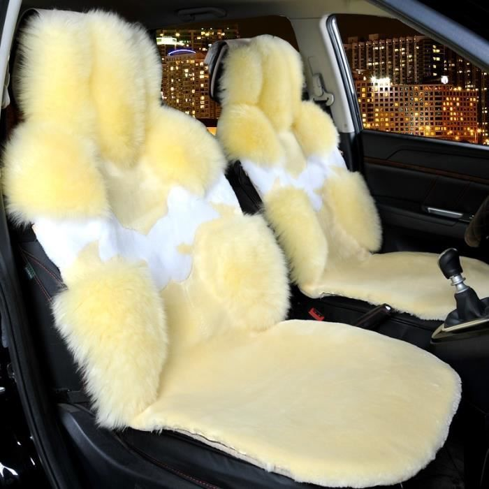1x voiture auto hiver laine peluche housse de coussin de si ge pour si ge conducteur avant. Black Bedroom Furniture Sets. Home Design Ideas