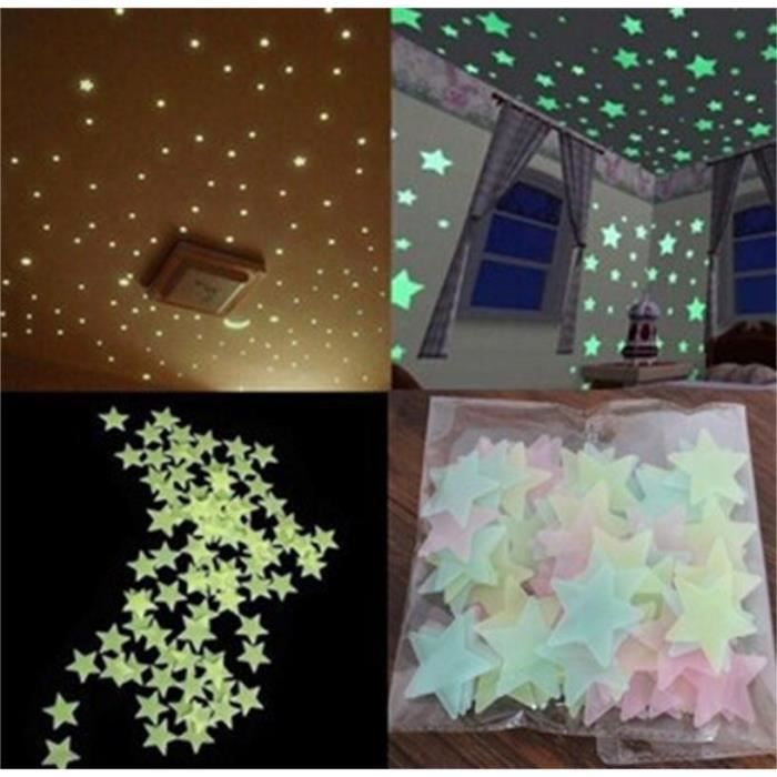 Autocollant sticker mural phosphorescent stickers for Auto collant mural