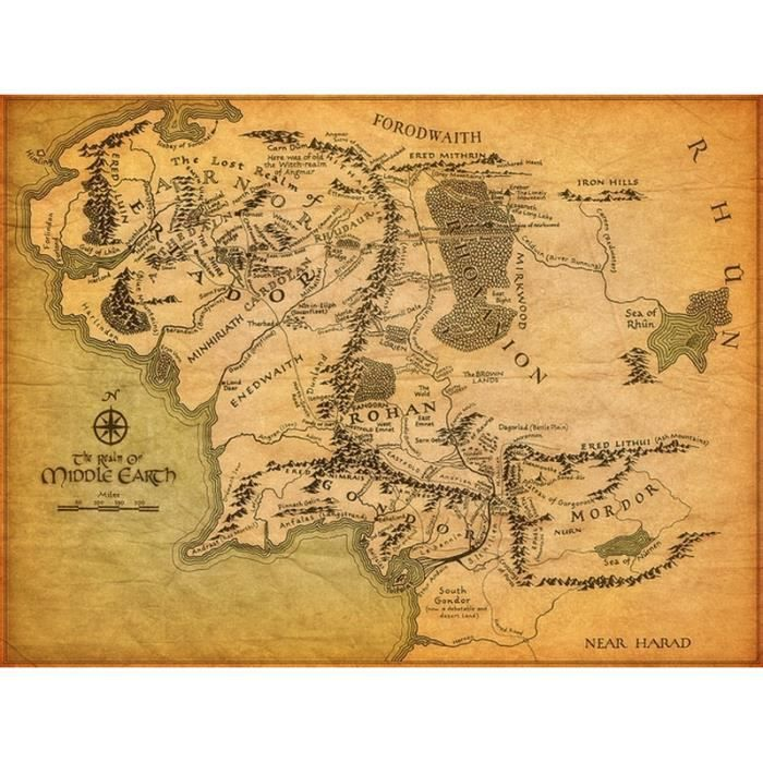 carte terre du milieu hd Carte De La Terre Du Milieu, Le Seigneur Des Anneaux Hd 32
