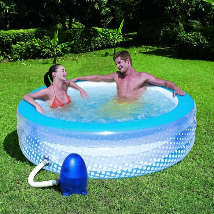 bestway piscine gonflable bulles 95cm x 195cm x 53 cm achat vente pataugeoire cdiscount. Black Bedroom Furniture Sets. Home Design Ideas
