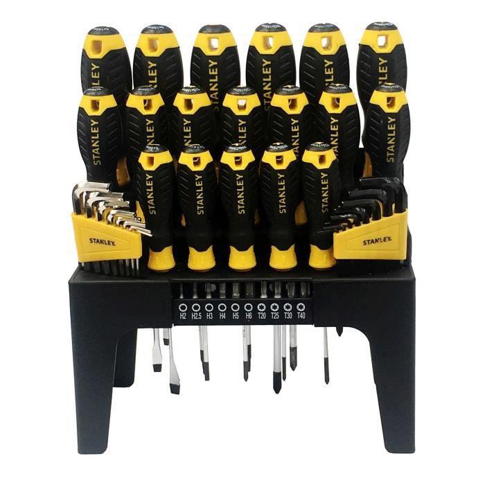 Stanley STA88040 Embout de Vissage et Amplificateur Magn/étique Noir Set de 21 Pi/èces