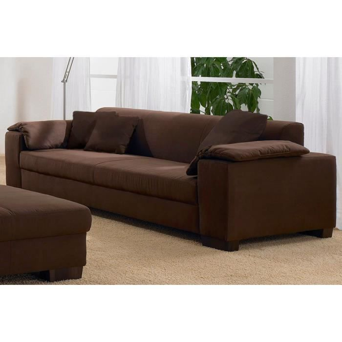 canape convertible microfibre marron. Black Bedroom Furniture Sets. Home Design Ideas