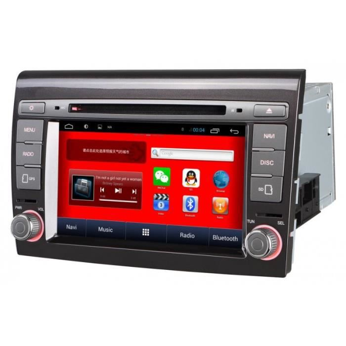 autoradio gps android ecran tactile fiat bravo a partir de 2007 achat vente autoradio. Black Bedroom Furniture Sets. Home Design Ideas