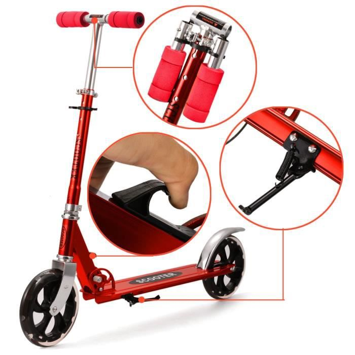 trottinette scooter adulte pliante durable 2 roues skateboard achat vente trottinette. Black Bedroom Furniture Sets. Home Design Ideas