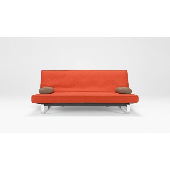 Canape lit design minimum orange clic clac convert achat for Canape lit design