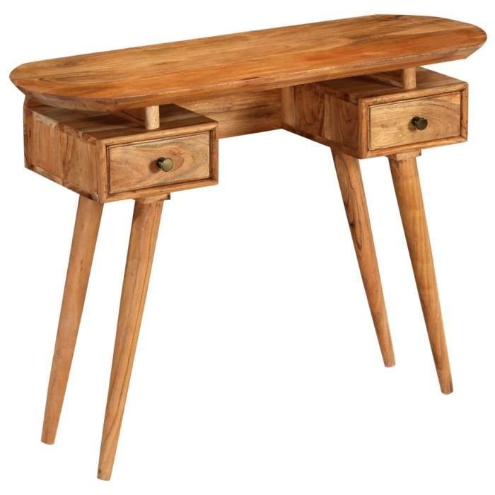 Economique Haute Qualite Table Console Bois D Acacia Massif 100 X 35 X 75 Cm