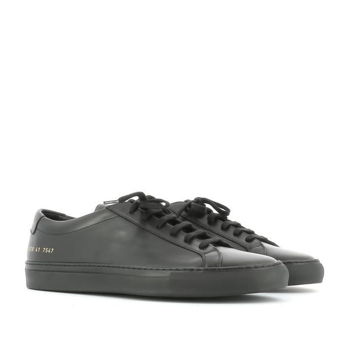 COMMON PROJECTS HOMME 15287547 NOIR CUIR BASKETS