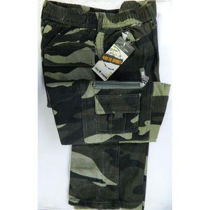 CUISSARD DE CHASSE Pantalon M treillis kaki motifs camouflage militai