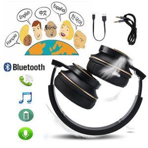 CASQUE - ÉCOUTEURS Sans fil Bluetooth casque écouteurs stéréo pliable