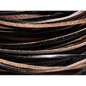 50 mètres cordon lacet cuir suède turquoise mat Ø 3 mm