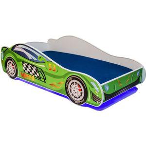 LIT COMPLET Lit enfant voiture LED
