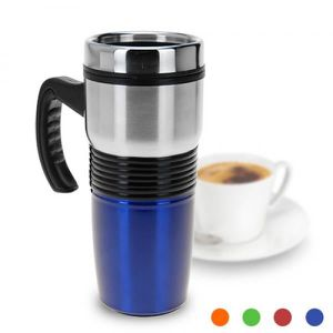 LUNCH BOX - BENTO  MUG ISOTHERME COULEUR ET INOX 400 ML