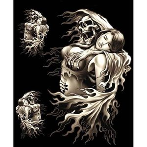 ACCESSOIRE CASQUE 3 Stickers Skull Tête de Mort Faucheuse Lady Rider