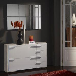 MEUBLE À CHAUSSURES Meuble chaussures et miroir moderne blanc couleur
