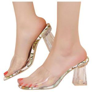 Longzjhd /ÉT/é Boucle D/éContract/éE pour Femmes Simple Mode Talons Chaussures Chaussures Femmes Escarpins /ÉL/éGant Talons Hauts Slip on Boucle M/éTal Pointu Chaussures