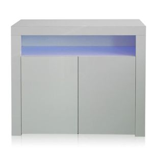 BUFFET - BAHUT  Commode buffet bas avec LED contemporain meuble de
