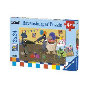 PUZZLE RAVENSBURGER Puzzle 2x24 p - Le Loup qui fêtait so